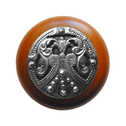 Notting Hill Olde Worlde 1-1/2 Inch Diameter Brilliant Pewter Cabinet Knob NHW-701C-BP