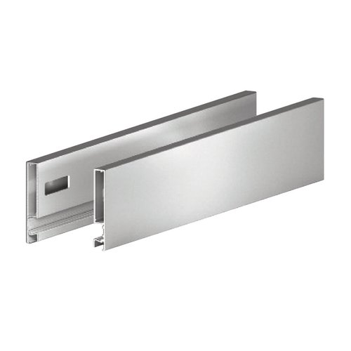 Grass Vionaro 15 inch Metal Drawer Side 3-1/2 inch H Silver Grey F135121303211