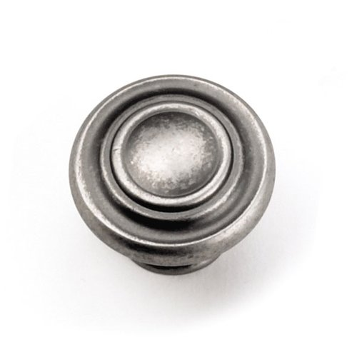 Windsor 1-3/8 Inch Diameter Antique Pewter Cabinet Knob <small>(#51806)</small>