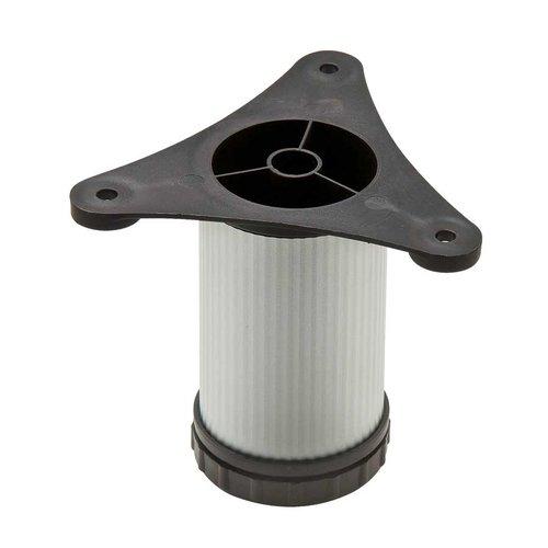 "Hafele Omni Track Adjustable Foot Leveler 12"" H Matte Aluminum 792.01.083"