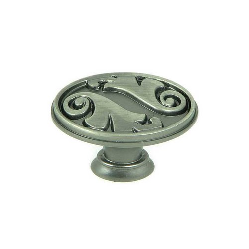 Stone Mill Hardware Meadow Brook 1-1/2 Inch Diameter Weathered Nickel Cabinet Knob CP81097-WEN