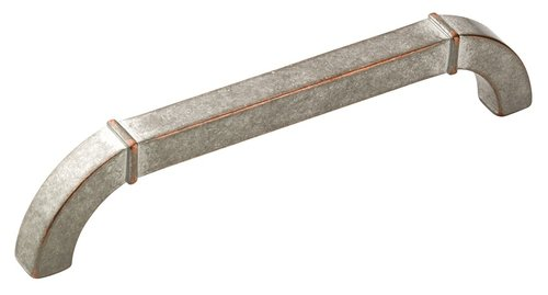 Amerock Vasari 5-1/16 Inch Center to Center Weathered Nickel Copper Cabinet Pull BP24005WNC