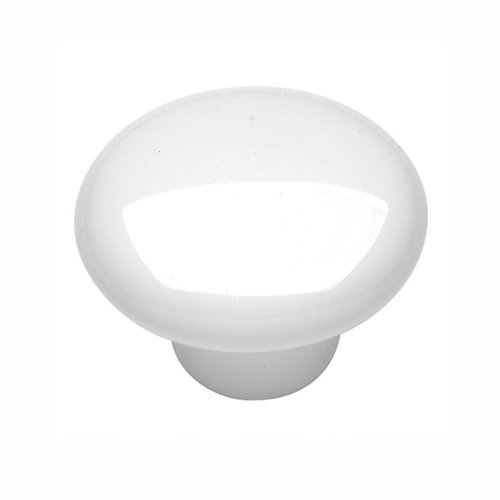 "Hickory Hardware English Cozy Knob 1-1/2"" Dia White P29-W"