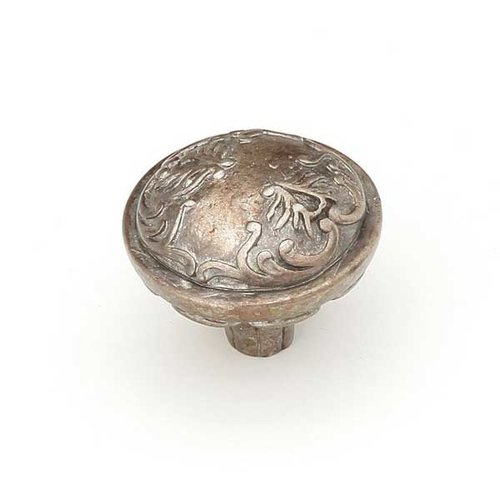 Schaub and Company Cantata 1-1/4 Inch Diameter Monticello Silver Cabinet Knob 994-MSL