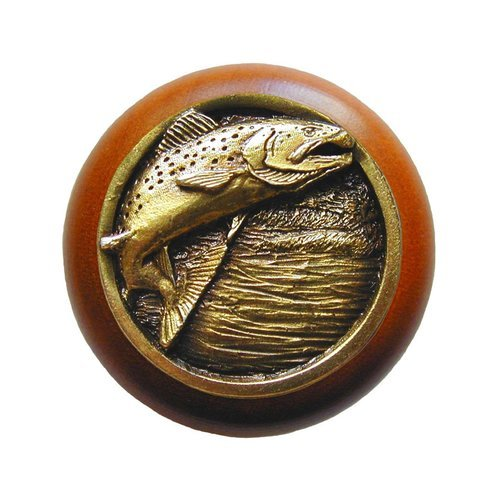 Notting Hill Great Outdoors 1-1/2 Inch Diameter Antique Brass Cabinet Knob NHW-708C-AB