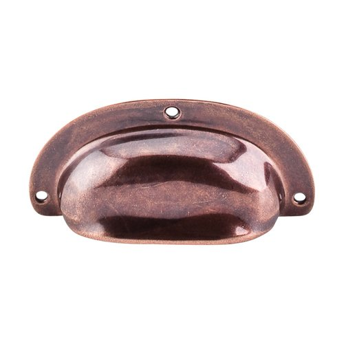 Top Knobs Tuscany 3-3/4 Inch Length Old English Copper Cabinet Cup Pull M213