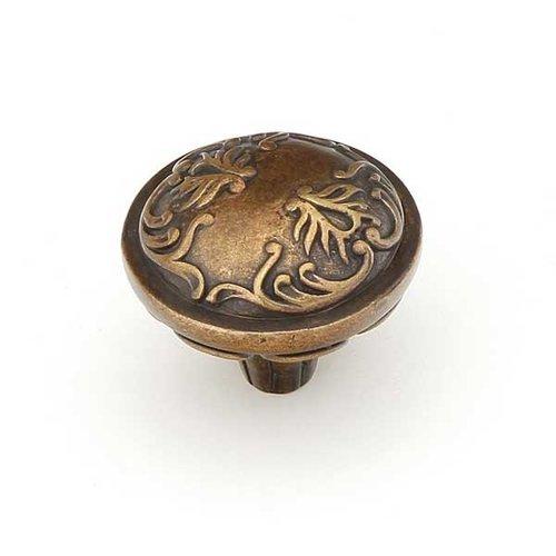 Schaub and Company Cantata 1-1/4 Inch Diameter Dark Italian Antique Cabinet Knob 994-DIA