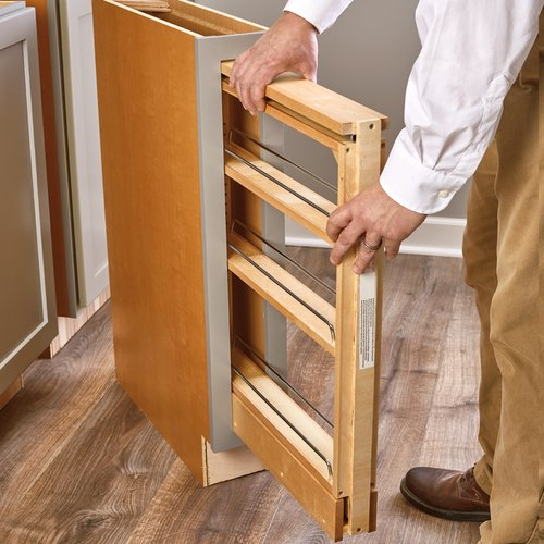 Rev-A-Shelf 438 Base Organizer for 3 inch Base Cabinet Maple 438-BC-3C