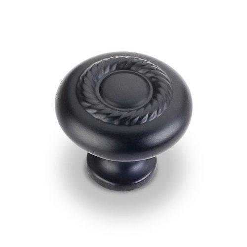 Jeffrey Alexander Lenoir 1-1/4 Inch Diameter Matte Black Cabinet Knob Z117-MB