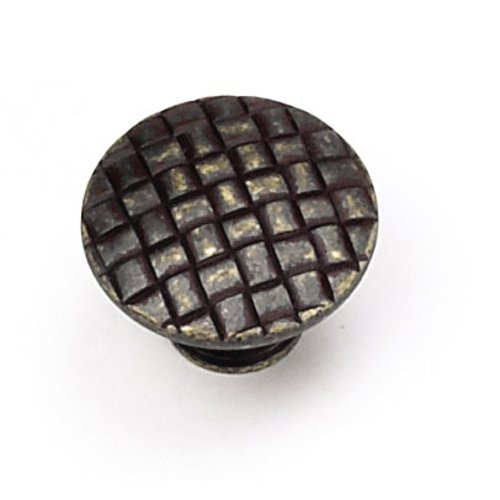 Windsor 1-1/4 Inch Diameter Weathered Antique Bronze Cabinet Knob <small>(#24578)</small>