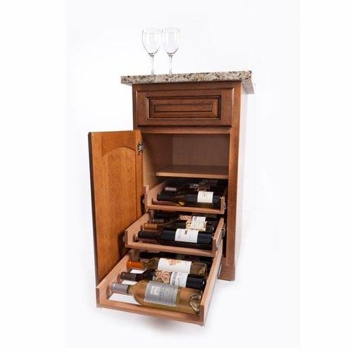 Wine Logic 3 Tray/18 Bottle In Cabinet Wine Rack Maple WL-Maple18