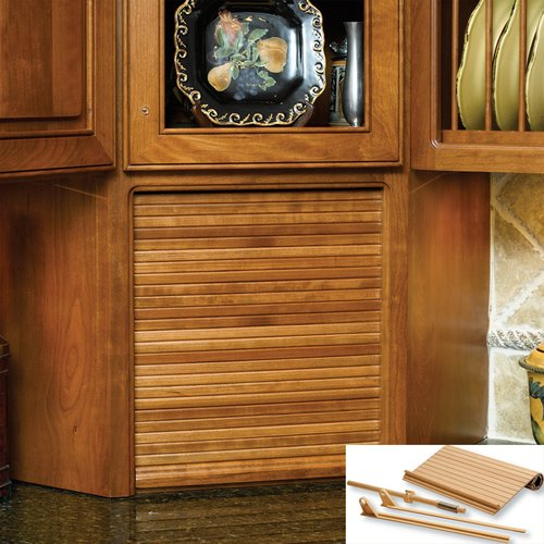 """Omega National Products 30"""" Wide Tambour Door Kit - Red Oak C02-SRO-3"""