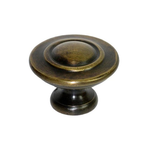 Knobs 1-1/2 Inch Diameter Unlacquered Antique Brass Cabinet Knob <small>(#HKN1032)</small>