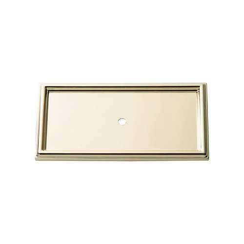 "Atlas Homewares Campaign Rope Backplate 3-11/16"" Long Polished Brass 379-PB"
