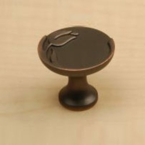 Century Hardware Tulip 1-3/16 Inch Diameter Antique Bronze Copper Cabinet Knob 24215-AZC