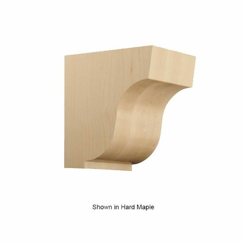 Brown Wood Large Simplicity Corbel Unifinished White Oak 01607004WK1