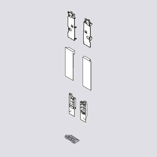 Blum Legrabox C Interior Front Fixing Bracket Set Orion Gray ZI7.3CS0