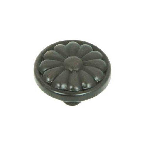 Stone Mill Hardware Cornell 1-1/4 Inch Diameter Oil Rubbed Bronze Cabinet Knob CP29-OB