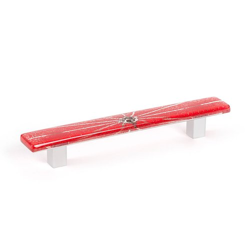 R. Christensen Radiants 5-1/16 Inch Center to Center Red Cabinet Pull 9651-1000-C