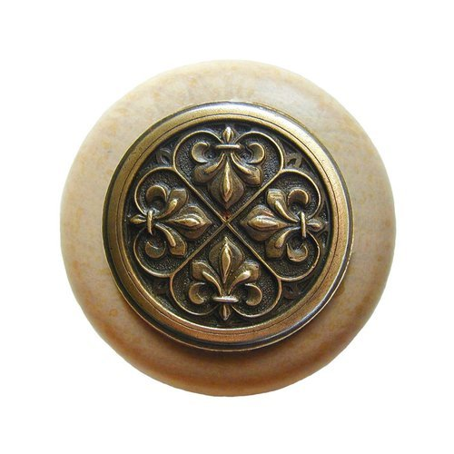 Notting Hill Olde World 1-1/2 Inch Diameter Antique Brass Cabinet Knob NHW-760N-AB