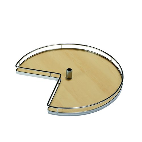"Kessebohmer 3/4 Round Kidney Tray Set 24"" Chrome/Maple <small>(#541.11.111)</small>"