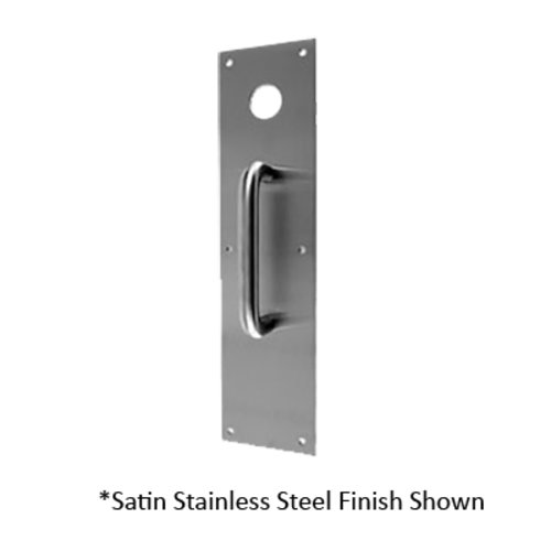 3-1/2 inch x 15 inch Push Plate with Hole and 6.75 inch Pull Polished Brass <small>(#CFK-7015-605)</small>