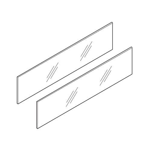 "Blum Tandembox Design Element Set Frosted Finish 17-11/16"" L x 4"" Z37G390D.US"