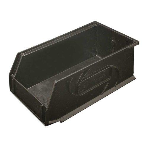 "Hafele Omni Track Storage Bin 5-1/2"" X 10-3/4"" X 5"" Black Plastic 792.02.382"