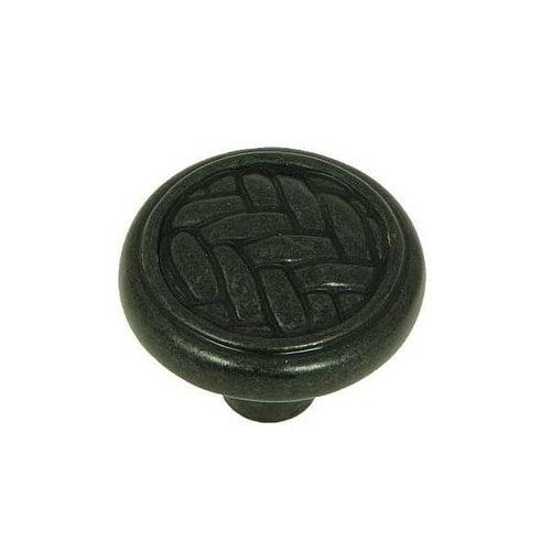 Stone Mill Hardware Harris 1-1/4 Inch Diameter Antique Black Cabinet Knob CP80498-BA