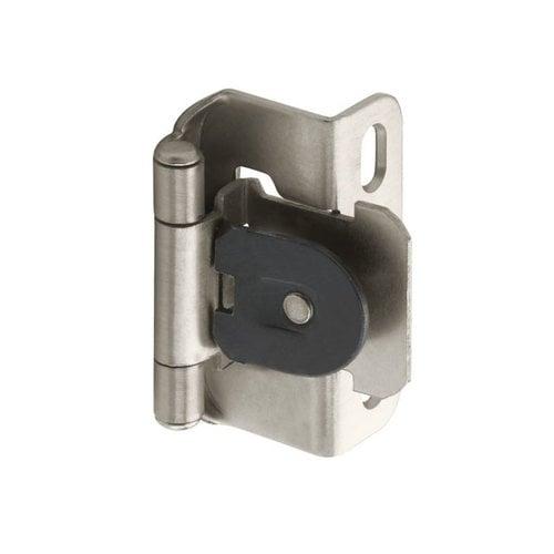 Amerock Single Demountable 1/2 inch Overlay Hinge Satin Nickel-Pair CMR8719G10