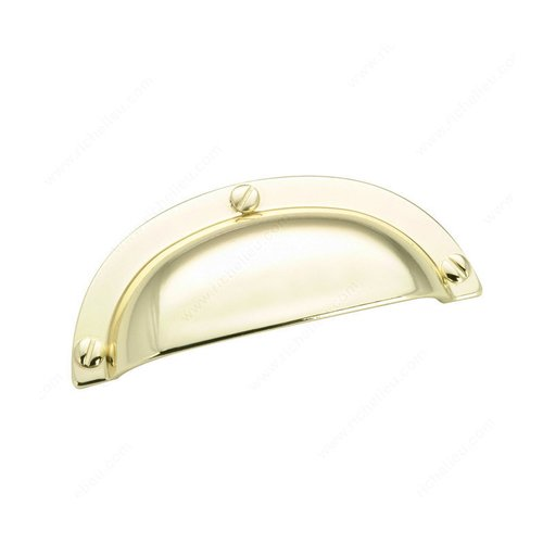 Richelieu Povera 2-1/2 Inch Center to Center Brass Cabinet Cup Pull 6440130