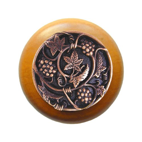 Notting Hill Tuscan 1-1/2 Inch Diameter Antique Copper Cabinet Knob NHW-729M-AC
