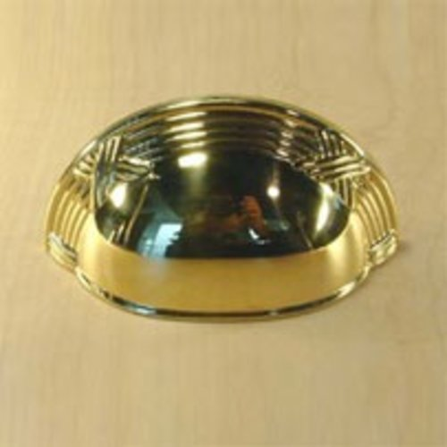 Century Hardware Georgian 3 Inch Center to Center Polished Brass Cabinet Cup Pull 15543-3