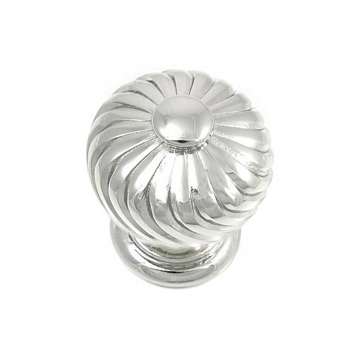 MNG Hardware French Twist 1-1/4 Inch Diameter Polished Nickel Cabinet Knob 83914