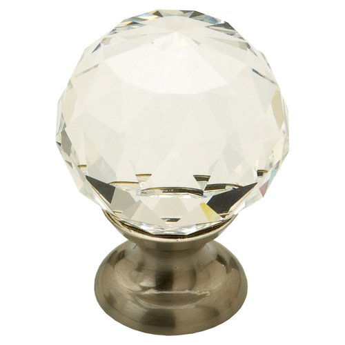 Schaub and Company Fire 1-1/8 Inch Diameter Clear Crystal/Satin Nickel Cabinet Knob 70-CS-15