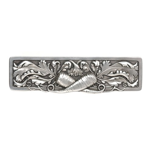 Kitchen Garden 3 Inch Center to Center Pewter Hand Tinted Cabinet Pull <small>(#NHP-652-BP)</small>