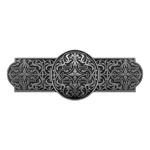 Olde World 3 Inch Center to Center Brilliant Pewter Cabinet Pull <small>(#NHP-670-BP)</small>