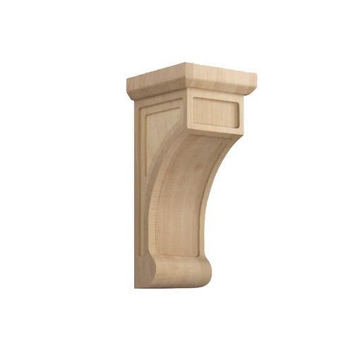 Brown Wood Large Shaker Corbel Unfinished Hard Maple 01606003HM1
