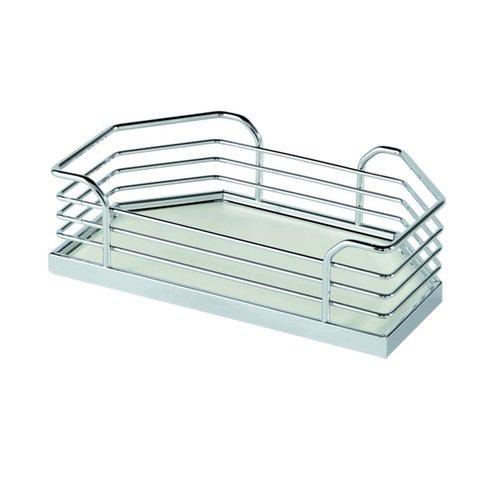 Kessebohmer Arena Plus Chefs Pantry Door Tray Set 11-1/8 inch W Chrome/White 546.64.291