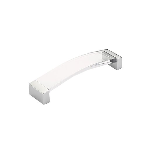 Schaub and Company Positano 5-1/16 Inch Center to Center Polished Chrome/Clear Cabinet Pull 320-26-CL