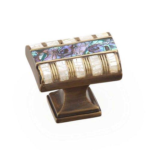Schaub and Company Fair Isle 1-1/4 Inch Diameter Aged Dover Cabinet Knob 654-AD