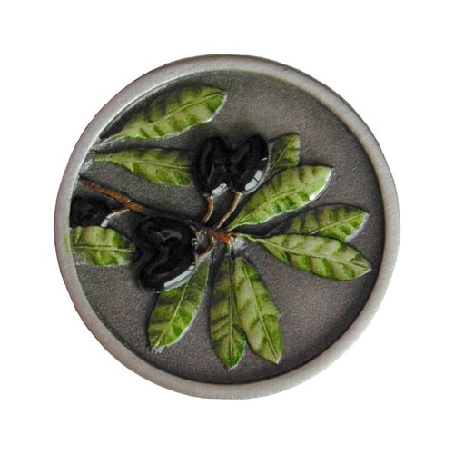 Notting Hill Tuscan 1-5/16 Inch Diameter Pewter Hand Tinted Cabinet Knob NHK-169-PHT
