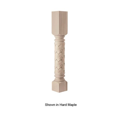 Brown Wood Weaved Roman Large Dia. Column Unfinished Paint Grade 01230270PT1