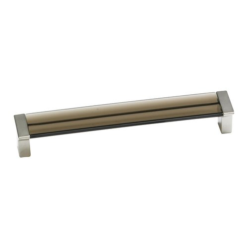 Schaub and Company Positano 6-5/16 Inch Center to Center Chrome/Smoke Cabinet Pull 317-26SM