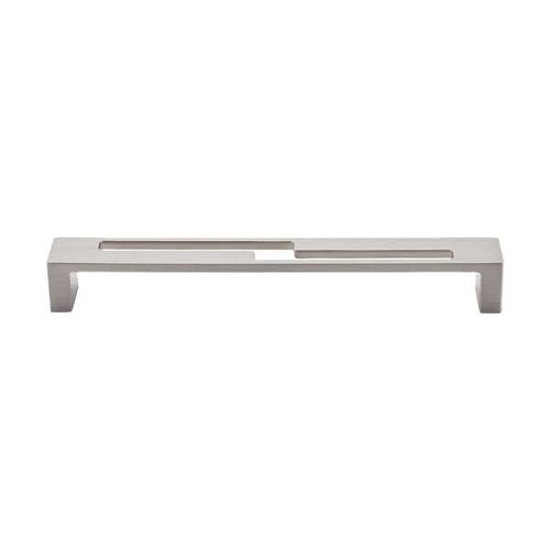 Top Knobs Sanctuary II 7 Inch Center to Center Brushed Satin Nickel Cabinet Pull TK255BSN