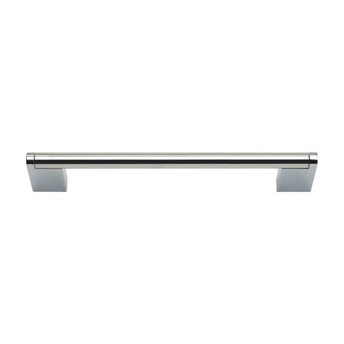 Atlas Homewares Round 6-5/16 Inch Center to Center Pol Stainless Steel Cabinet Pull A858-PS