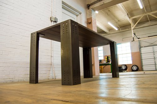 Federal Brace Atherton Industrial Leg Set Raw Steel W/ Clear Coat 40051