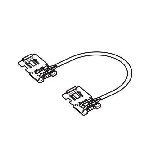 "Hafele Loox Interconnect Lead w/ Clip for LED Strip Light 2"" 833.73.721"
