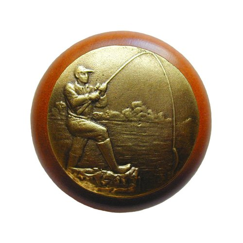 Notting Hill Great Outdoors 1-1/2 Inch Diameter Antique Brass Cabinet Knob NHW-707C-AB