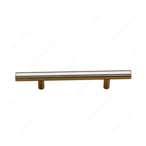Richelieu Antimicrobial 3-3/4 Inch Center to Center Stainless Steel Cabinet Pull BP348796170AB